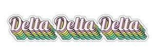 Delta Delta Delta Step Decal Sticker