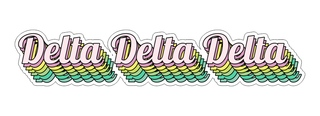 Delta Delta Delta Step Decal Sticker