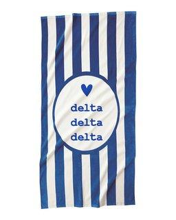 Delta Delta Delta Striped Beach Towel