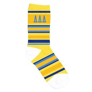 Delta Delta Delta Striped Crew Socks