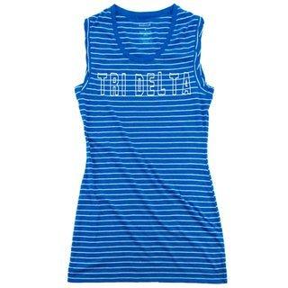 Delta Delta Delta Striped Tee Dress