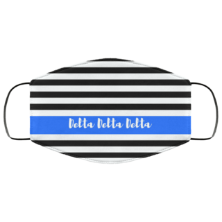 Delta Delta Delta Stripes Face Mask