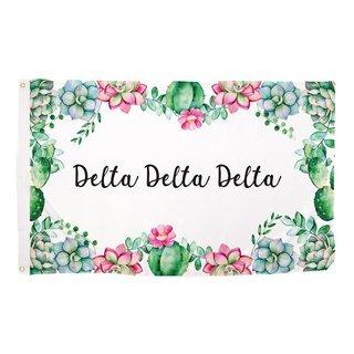 Delta Delta Delta Succulent Flag