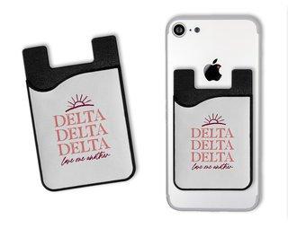Delta Delta Delta Sun Card Caddy
