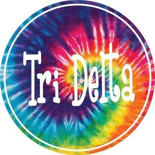 Delta Delta Delta Tie-Dye Circle Sticker