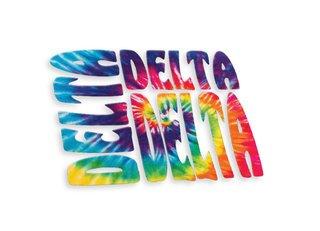 Delta Delta Delta Tie-Dye Stack Sticker
