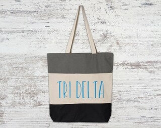 Delta Delta Delta Tri Color Tote Bag