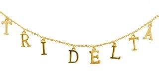 Delta Delta Delta - TRI DELTA Sorority Letter Necklace