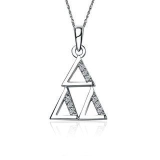Delta Delta Delta Triangle Silver Lavalier