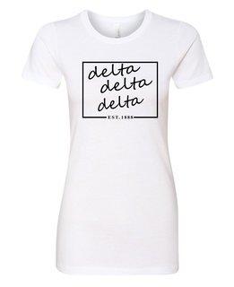 Delta Delta Delta Triblend Short Sleeve Box T-Shirt