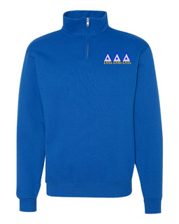 Delta Delta Delta Twill Greek Lettered Quarter zip