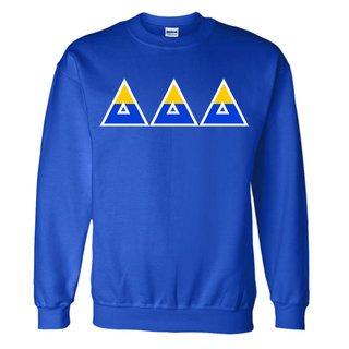 Delta Delta Delta Two Tone Greek Lettered Crewneck Sweatshirt