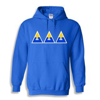 Delta Delta Delta Two Tone Greek Lettered Hooded Sweatshirt