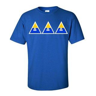 Delta Delta Delta Two Tone Greek Lettered T-Shirt