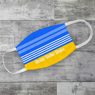 Delta Delta Delta Two Tone Stripes Face Mask