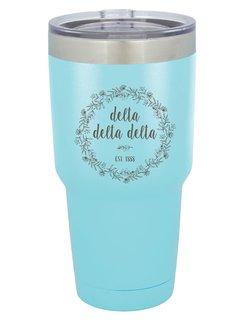 Delta Delta Delta Vacuum Insulated Floral Tumbler