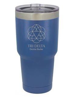 Delta Delta Delta Vacuum Insulated Mascot Tumbler