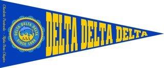 Delta Delta Delta Wall Pennants