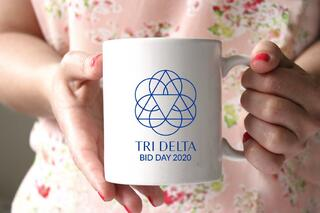 Delta Delta Delta White Mascot Coffee Mug