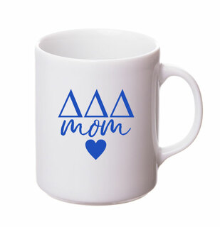 Delta Delta Delta White Personalized Coffee Mug