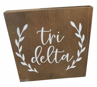 Delta Delta Delta Wooden Wall Art