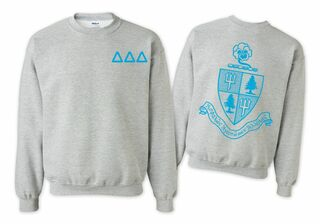 Delta Delta Delta World Famous Crest - Shield Crewneck Sweatshirt- $25!