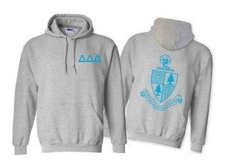 Delta Delta Delta World Famous Crest - Shield Hooded Sweatshirt- $35!