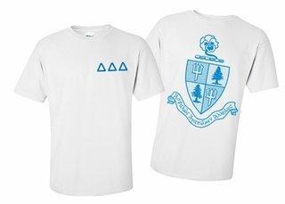 Delta Delta Delta World Famous Greek Crest T-Shirts - MADE FAST!