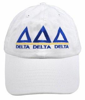 Delta Delta Delta World Famous Line Hat - MADE FAST!