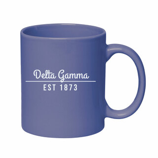 Delta Gamma 11 oz. Colored Stoneware Mug