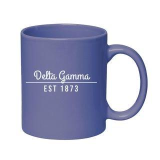 Delta Gamma 11 oz. Colored Stoneware Mug