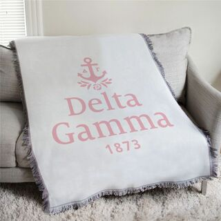 Delta Gamma 1873 Afghan Blanket Throw