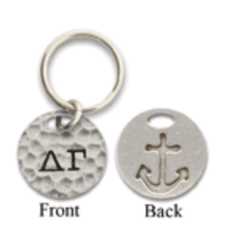 Delta Gamma 2-Sided Key Ring