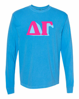 Delta Gamma 3 D Greek Long Sleeve T-Shirt - Comfort Colors
