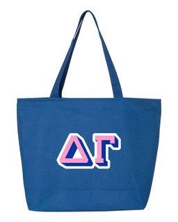 Delta Gamma 3D Letter Tote Bag