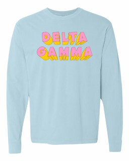 Delta Gamma 3Delightful Long Sleeve T-Shirt - Comfort Colors