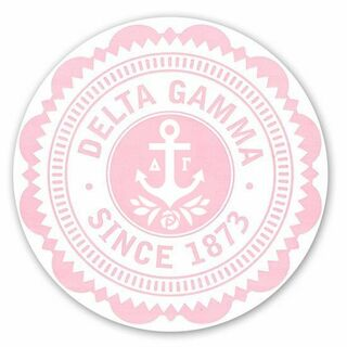 "Delta Gamma 5"" Sorority Seal Bumper Sticker"