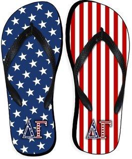 Delta Gamma American Flag Flip Flops