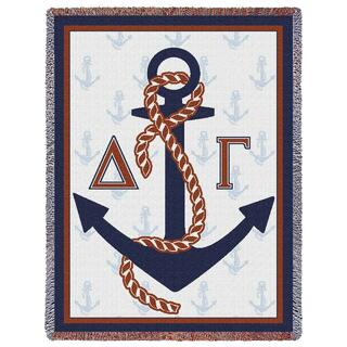 Delta Gamma Anchor Afghan Blanket Throw