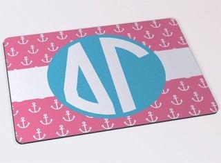 Delta Gamma Anchor Monogram Mousepad