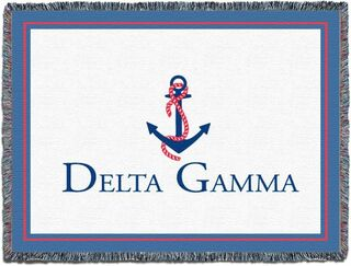 Delta Gamma Blanket Throw