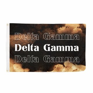 Delta Gamma Bleach Wash Flag