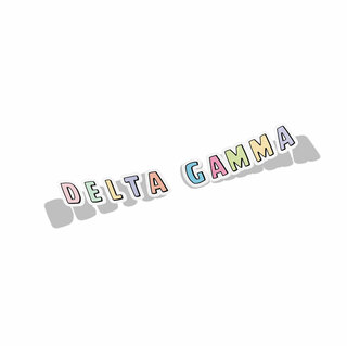 Delta Gamma Cartoon Decal Sticker