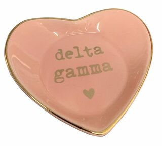 Delta Gamma Ceramic Ring Dish