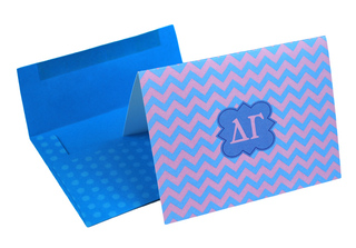 Delta Gamma Chevron Note Cards w/ Envelopes (10)