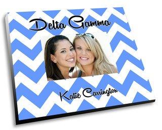 Delta Gamma Chevron Picture Frame