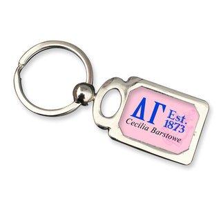 Delta Gamma Chrome Crest Key Chain