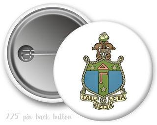 Delta Gamma Color Crest - Shield Button