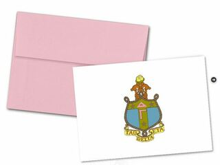 Delta Gamma Color Crest - Shield Notecards(6)