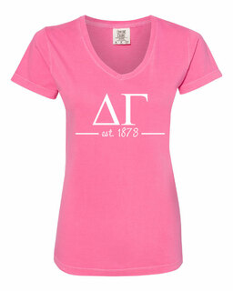 Delta Gamma Comfort Colors Est. V-Neck T-Shirt